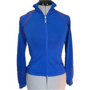 Turbowear Athletic Jacket Blue w/ Red Stripe Small